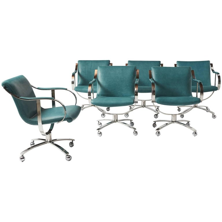 Swivel Chairs by Gardner Leaver for Steelcase For Sale
