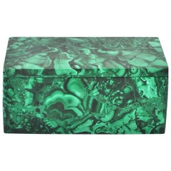 Natural Malachite Box, Gem Stone Jewelry Box