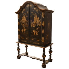 Substantial Gilt Chinoiserie Lacquered Cabinet on Stand, by Julia Gray