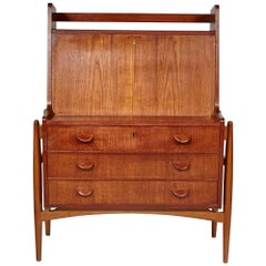 Danish Teak Secretary Desk by Poul Volther, 1960s
