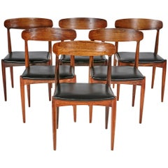 Danish Rosewood Dining Chairs by Johannes Andersen for Uldum Mobler, 1960s
