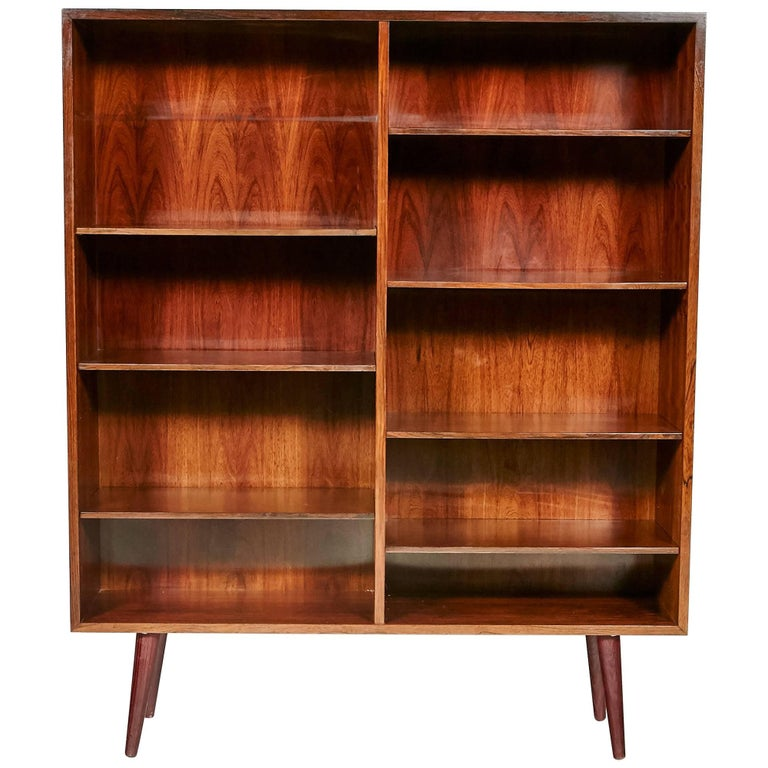 Gunni Omann Danish Rosewood Bookcase for Omann Jun Møbelfabrik, 1960s