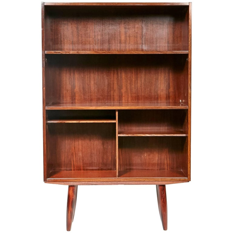 Danish Rosewood Small Bookcase, 1960s For Sale