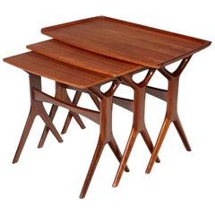 Danish Teak Nesting Tables by Johannes Andersen for CFC Silkeborg, 1960s