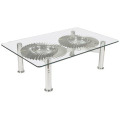Double Turbine Rolls-Royce Coffee Table from Pegasus Fighter Engine