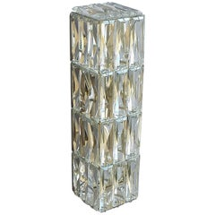 Faceted Large Crystal Glass Wall Light or Vanity Sconce by Bakalowits 1950s
