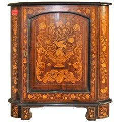 19th Century Inlaid Rosewood Corner Cabinet