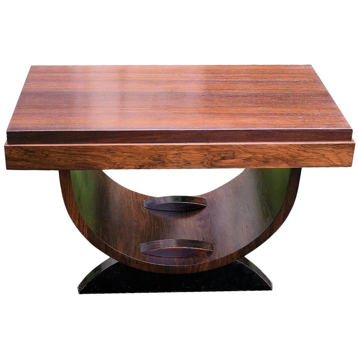 High Style French Art Deco U-Base Occasional Table