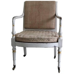 Good Early 19th Century Regency Painted Armchair