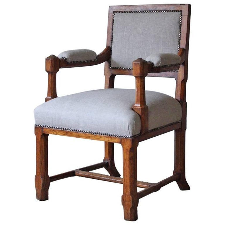19th Century Oak Pugin Library Chair At 1stdibs