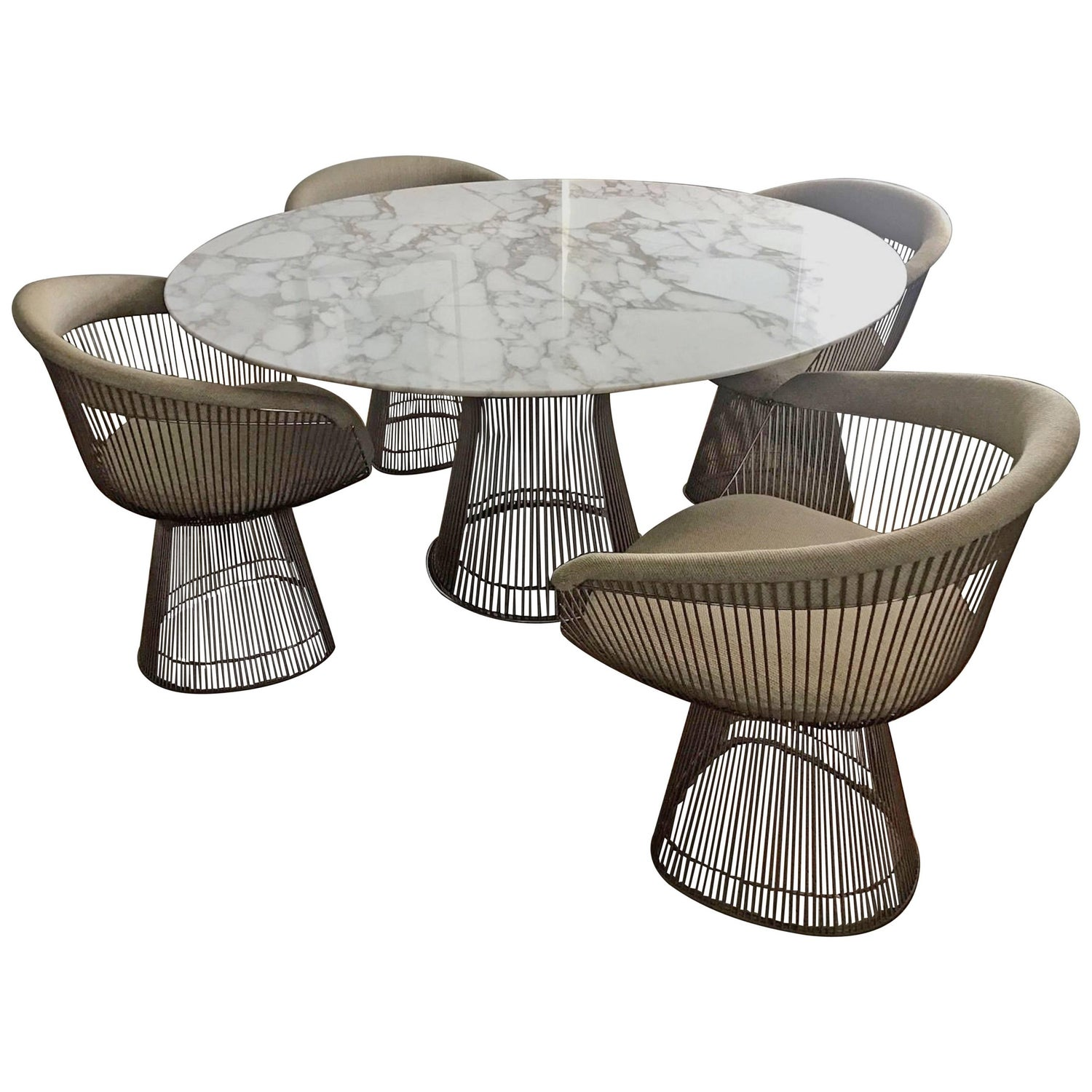 Knoll International Warren Platner Dining Set Marble Table and