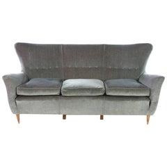 Flared Italian Sofa, 1950