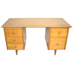 Midcentury Paul McCobb Double Pedestal Desk for Planner Group