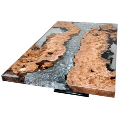 Elm Brambles and Glacier Resin Coffee Table