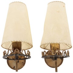 Pair of French Undulating Wall Sconces