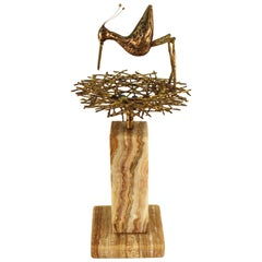 Curtis Jere Mid-Century Modern Sandpiper Sculpture