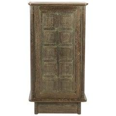 French Modernist Cerused Oak Cabinet, 1940