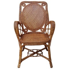 Perret & Vibert, Rattan Armchair, End of the 19th Century