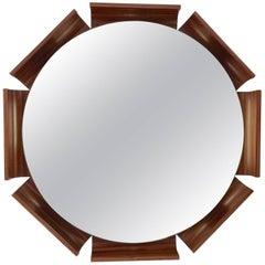 Ico Parisi Attributed Italian Rosewood Illuminated Mirror
