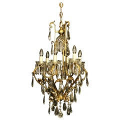 French Gilded Birdcage Seven-Light Antique Chandelier