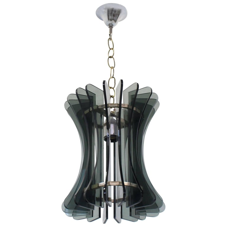 Veca Italian Mid Century Modern Pendant Light Fixture Chandelier For Sale
