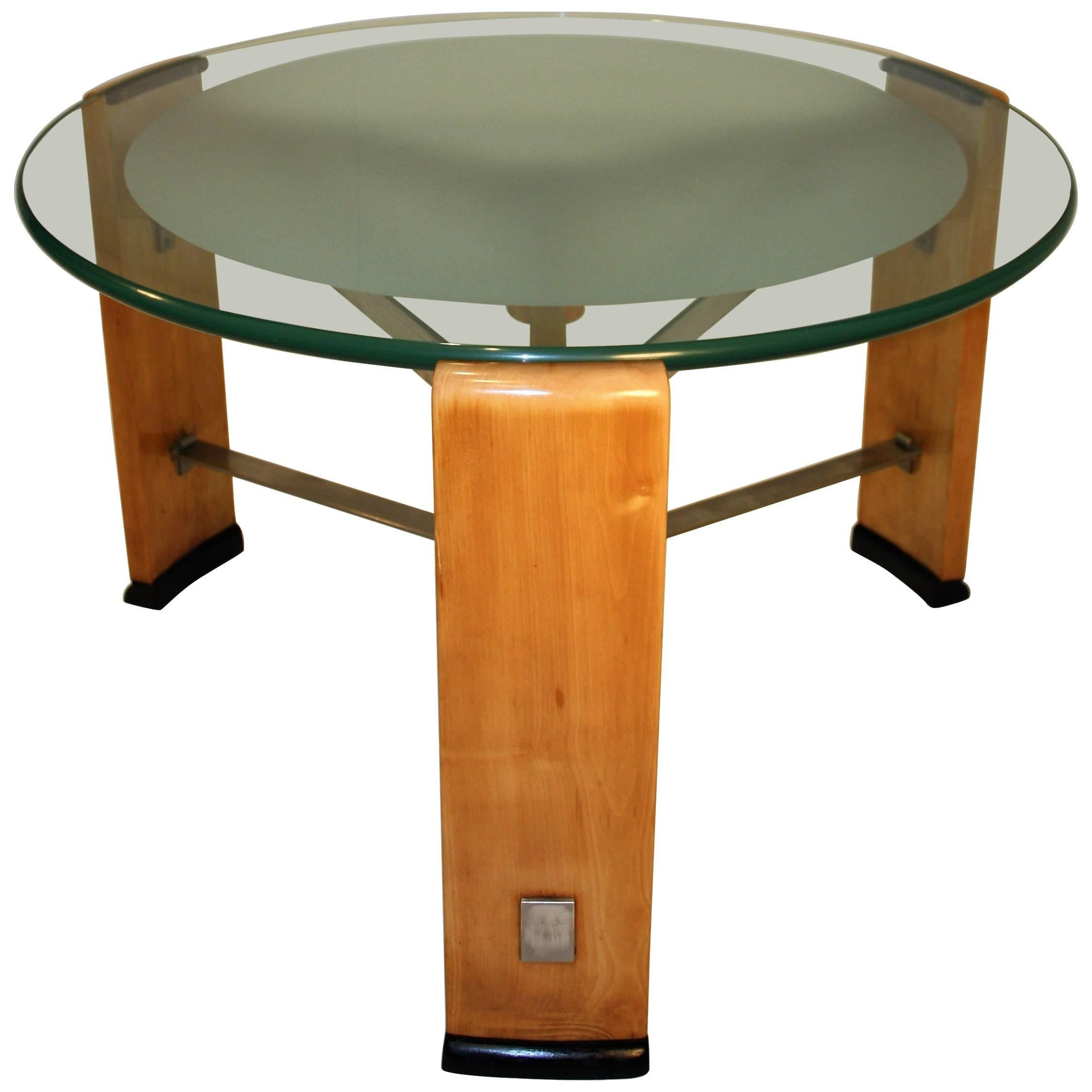 Modernist Art Deco Coffee Table By Chambon, 1920s