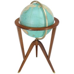 Ed Wormley of Dunbar Mid-Century Modern Illuminated Globe Light Fixture
