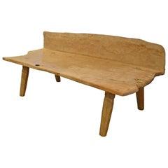 Andrianna Shamaris Museum Quality Wabi-Sabi Teak Wood Bench