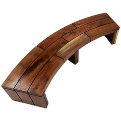 Indoor/Outdoor Bench in Black Walnut by Goebel