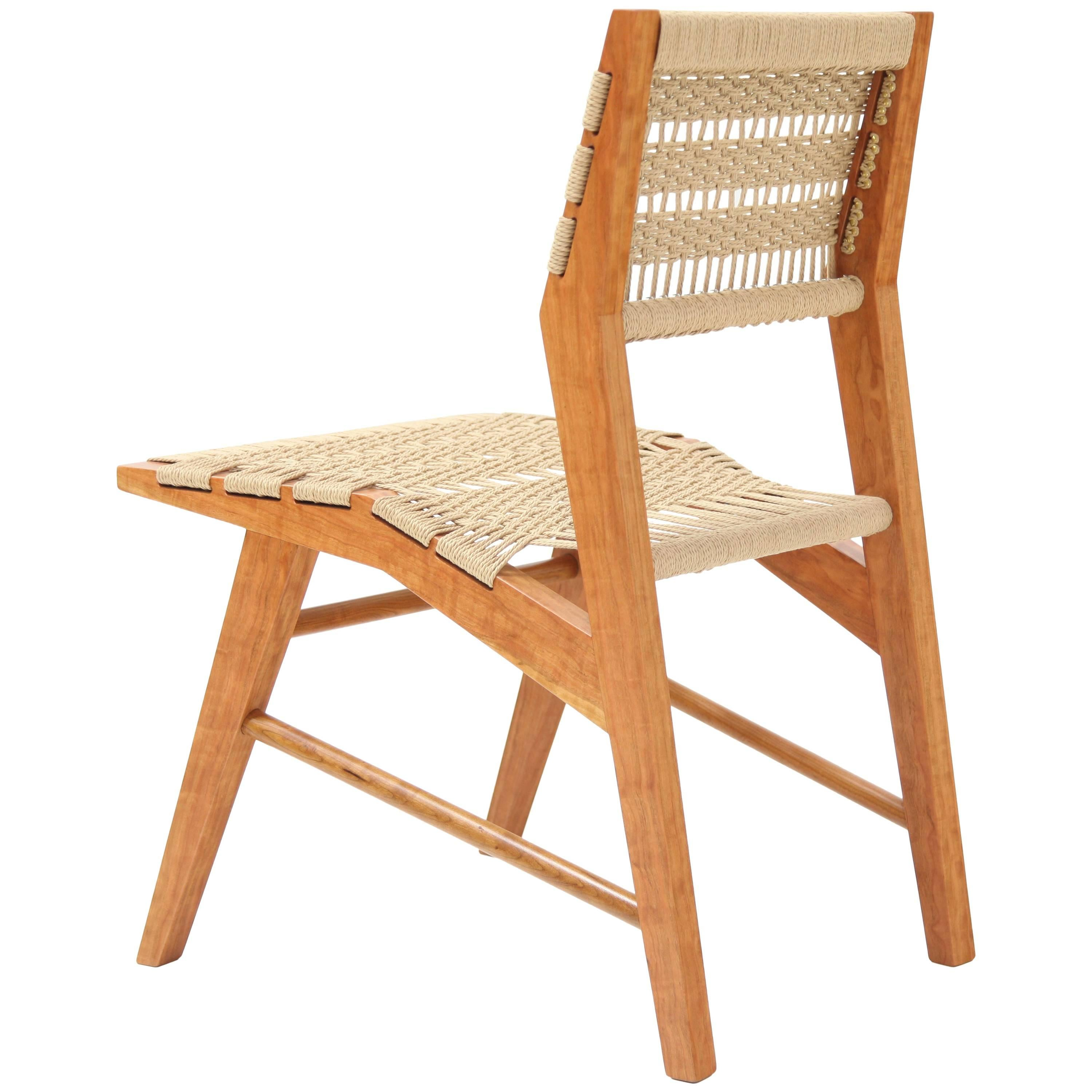 Attrayant Hyde Wood Dining Chair With Midcentury Modern Influence U0026 Hand Woven Danish  Cord