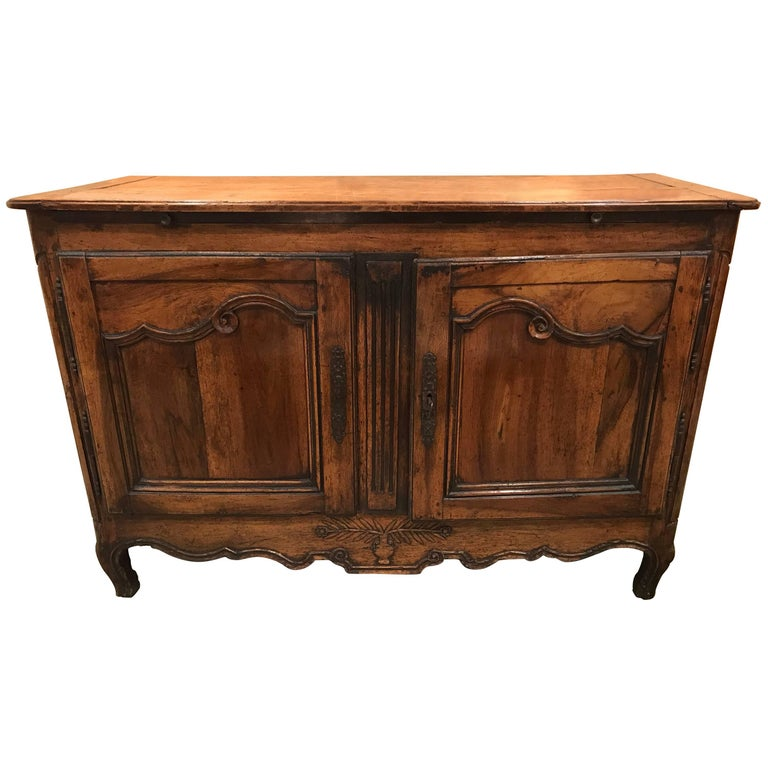 18th Century Louis XV Original Walnut Provincial French Buffet