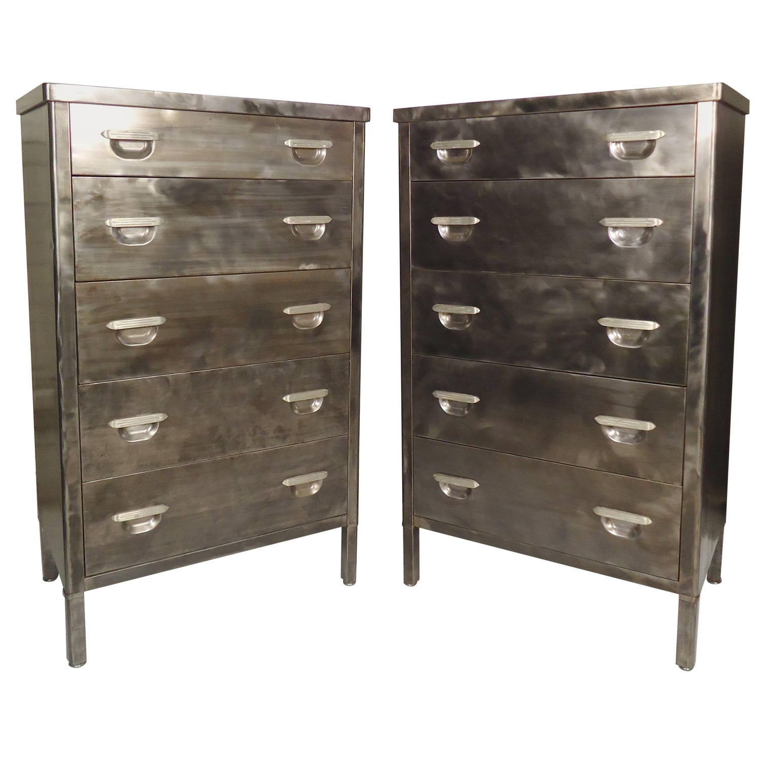 vtg 1940 50s simmons furniture metal medical. Pair Of Tall Metal Dressers Restored Vtg 1940 50s Simmons Furniture Medical T