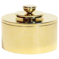 Contemporary Round Swedish Brass Modern Minimalist Artisan Box