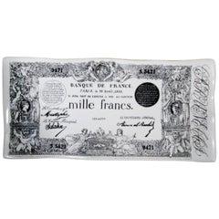 Early Piero Fornasetti Ceramic Mille Francs Vide Poche Tray
