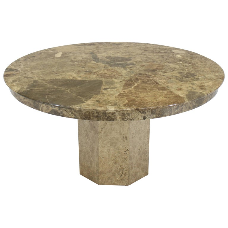Large Round Marble Dining Center Conference Table For Sale At Stdibs - Marble conference table for sale