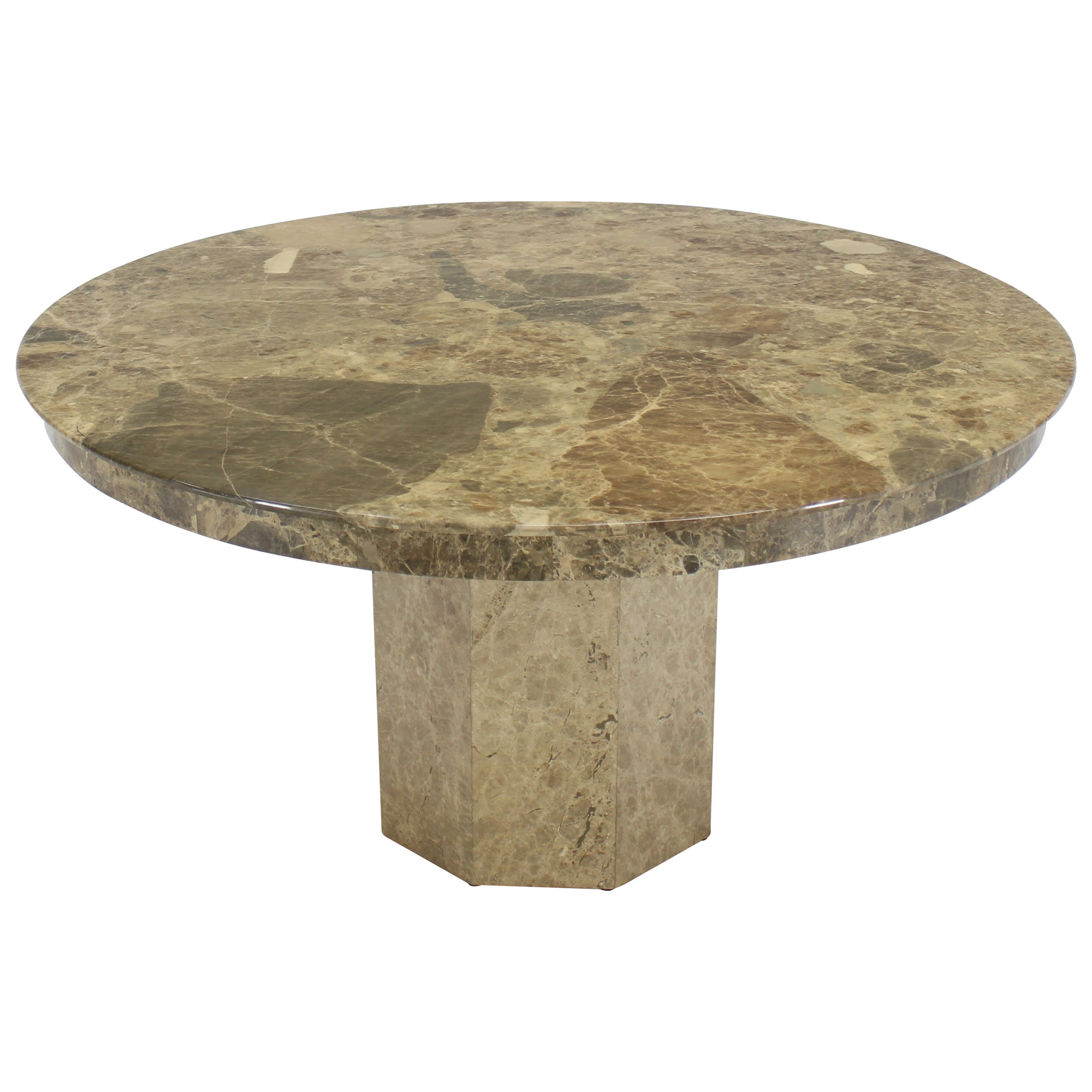Large Round Marble Dining Center Conference Table