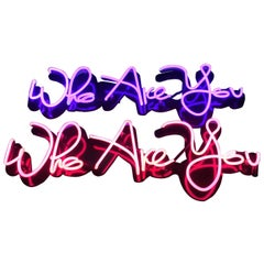 """""""Who Are You"""" Neon Sign"""