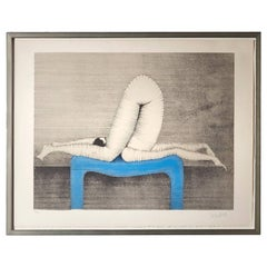 """Paul Wunderlich Color Lithograph, Titled """"Position A"""""""