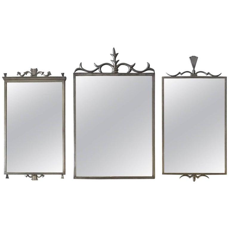 Set of Swedish Pewter Mirrors