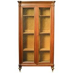 Louis XVI Style Bookcase or Curio Cabinet