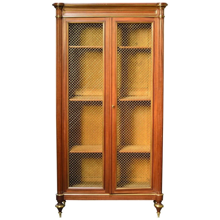 Louis XVI Style Bookcase or Curio Cabinet