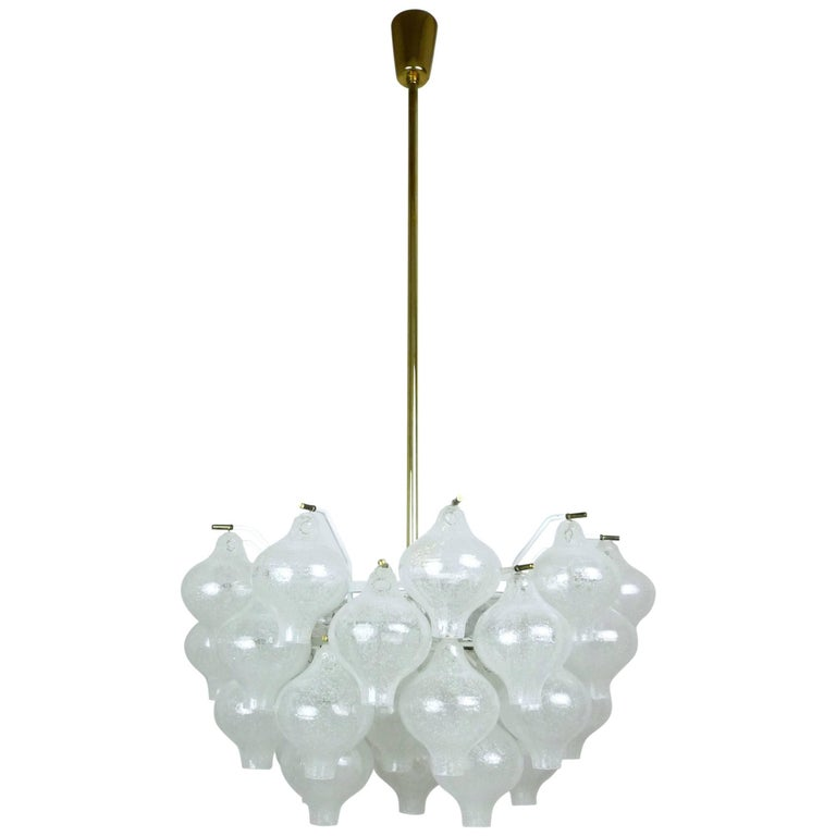 Tulipan Chandelier by J.T. Kalmar for Franken KG, Germany, 1960s