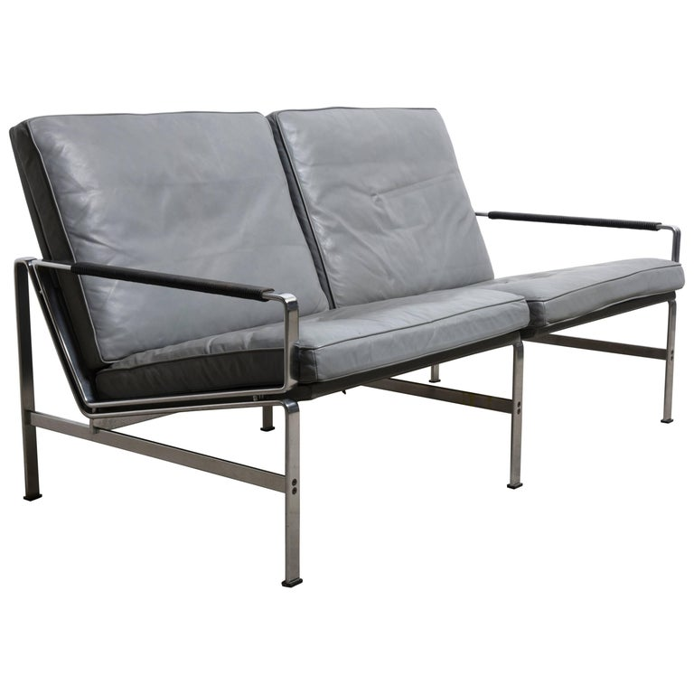 "Classics of Mid-Century Modernism ""Two-Seat Sofa by Fabricius and Kastholm"""