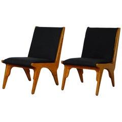 """Pair of """"Dordrecht"""" Lounge Chairs by W Van Gelderen for 't Spectrum Dutch, 1951"""