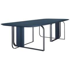 """Bon Ton"" Blue Table Designed by Baldessari & Baldessari for Adele-C"