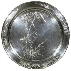 Early 20th Century Chinese Export Silver Salver, Shanghai, circa 1900