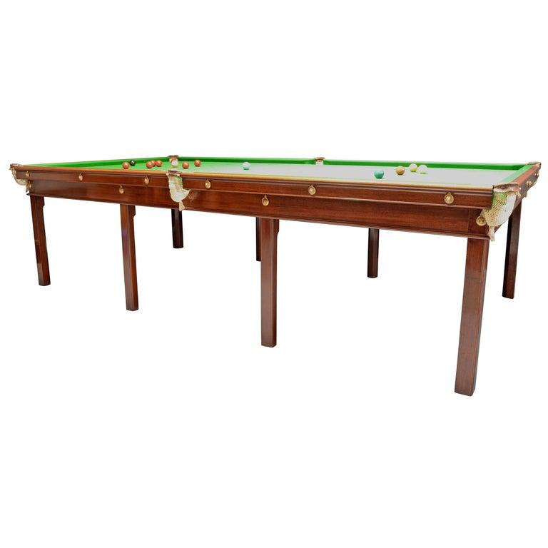 Billiard Snooker Table Gillow's, circa 1800