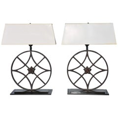 Pair of Wrought Iron Lamps