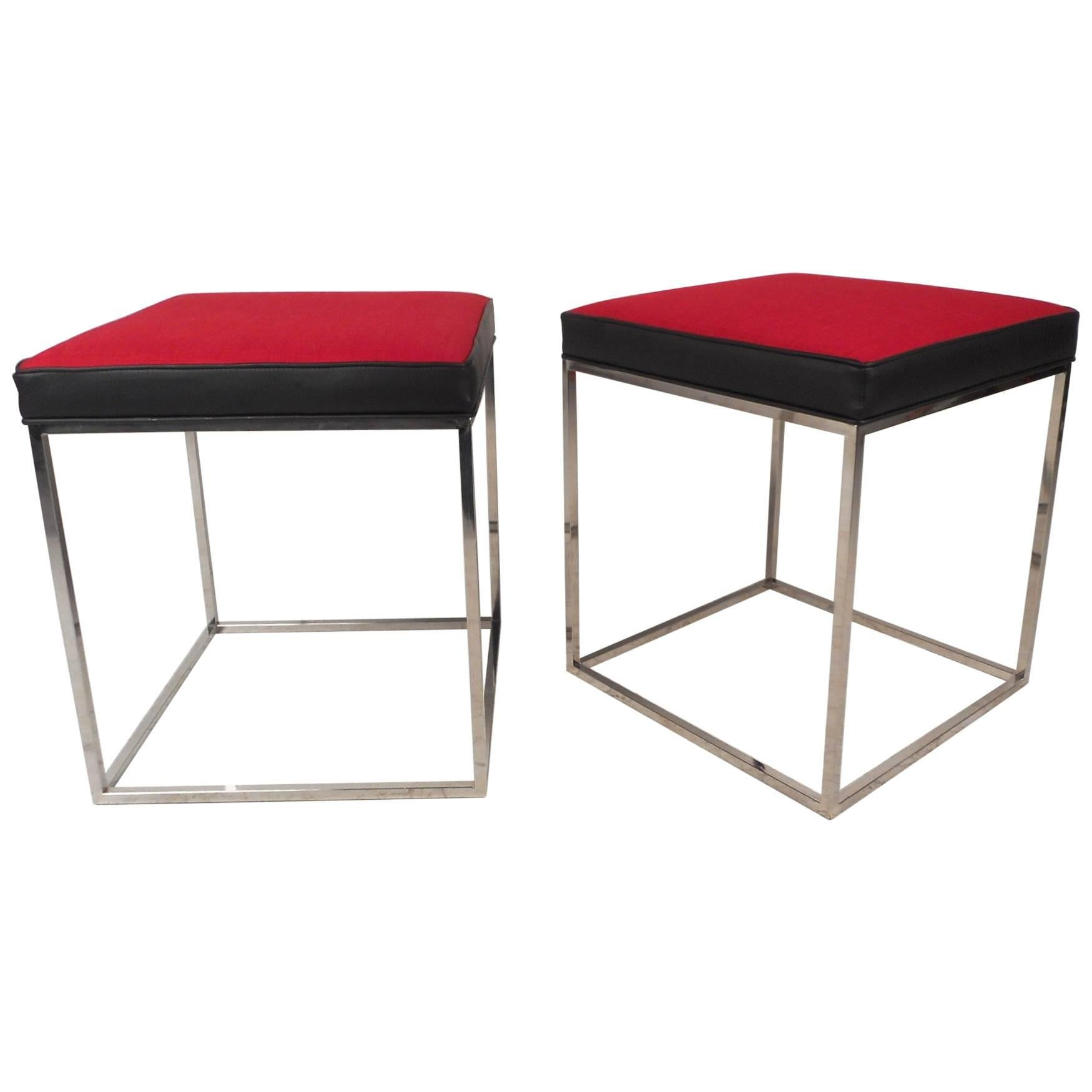 Pair of Contemporary Modern Stools