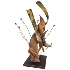 Mid-Century Modern Metal Sculpture Art